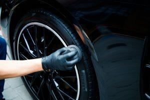 Tyre dressing foam applicator